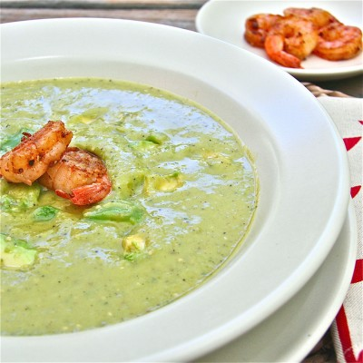 avocado and roasted tomatillo soup / the wimpy vegetarian