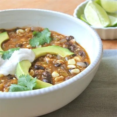 Black Bean, Tomatillo, and Corn Soup