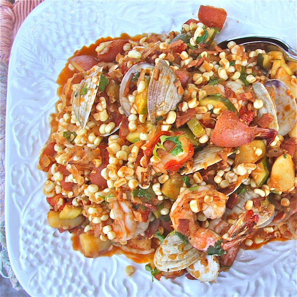 Summertime Corn Stew with Seafood : The Wimpy Vegetarian
