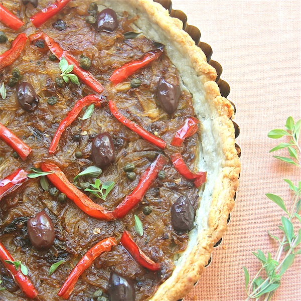 Pissaladiére Niçoise - Vegetarian Style: The Wimpy Vegetarian