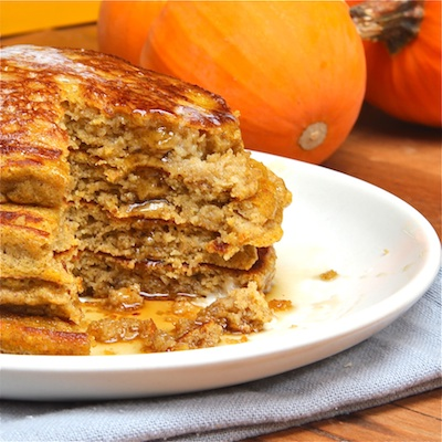 Pumpkin Ricotta Pancakes Cut : The Wimpy Vegetarian