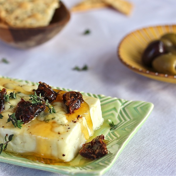 Honeyed Warm Feta with Dates 600LT : The Wimpy Vegetarian