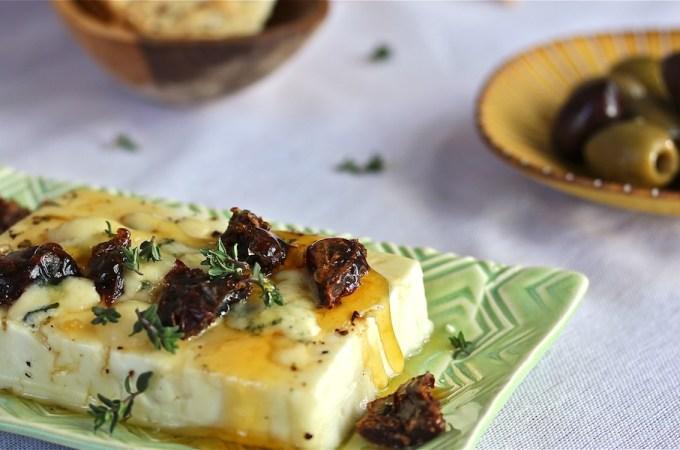 Honeyed Warm Feta with Dates