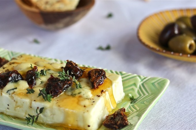Honeyed Warm Feta with Dates