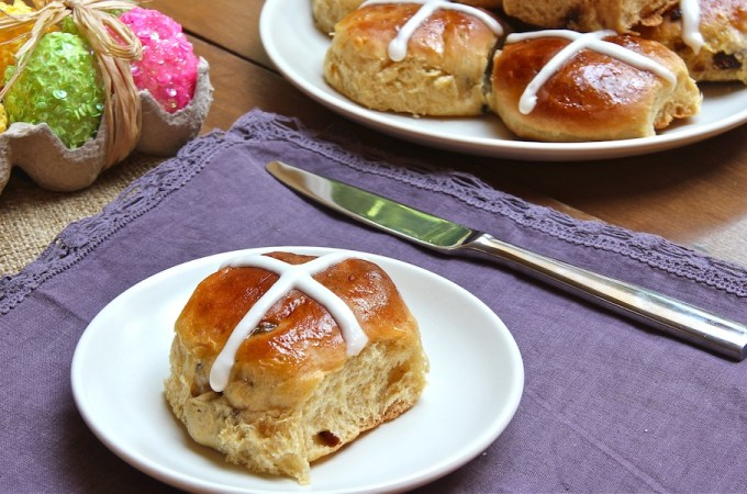 Good Friday traditional treat, sweet, spiced buns, yeasted bread