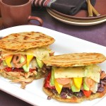 arepas rellenas, cooking for vegetarians and omnivores