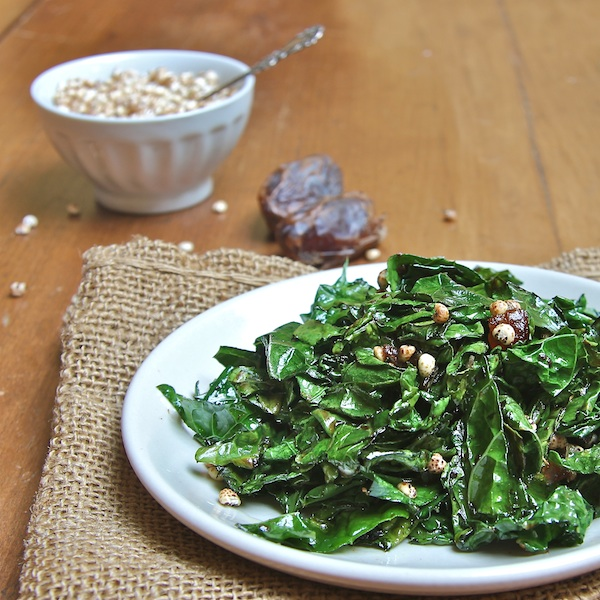 Miso-Kale salad with dates and puffed millet, Nature's Path, Ask Miss A