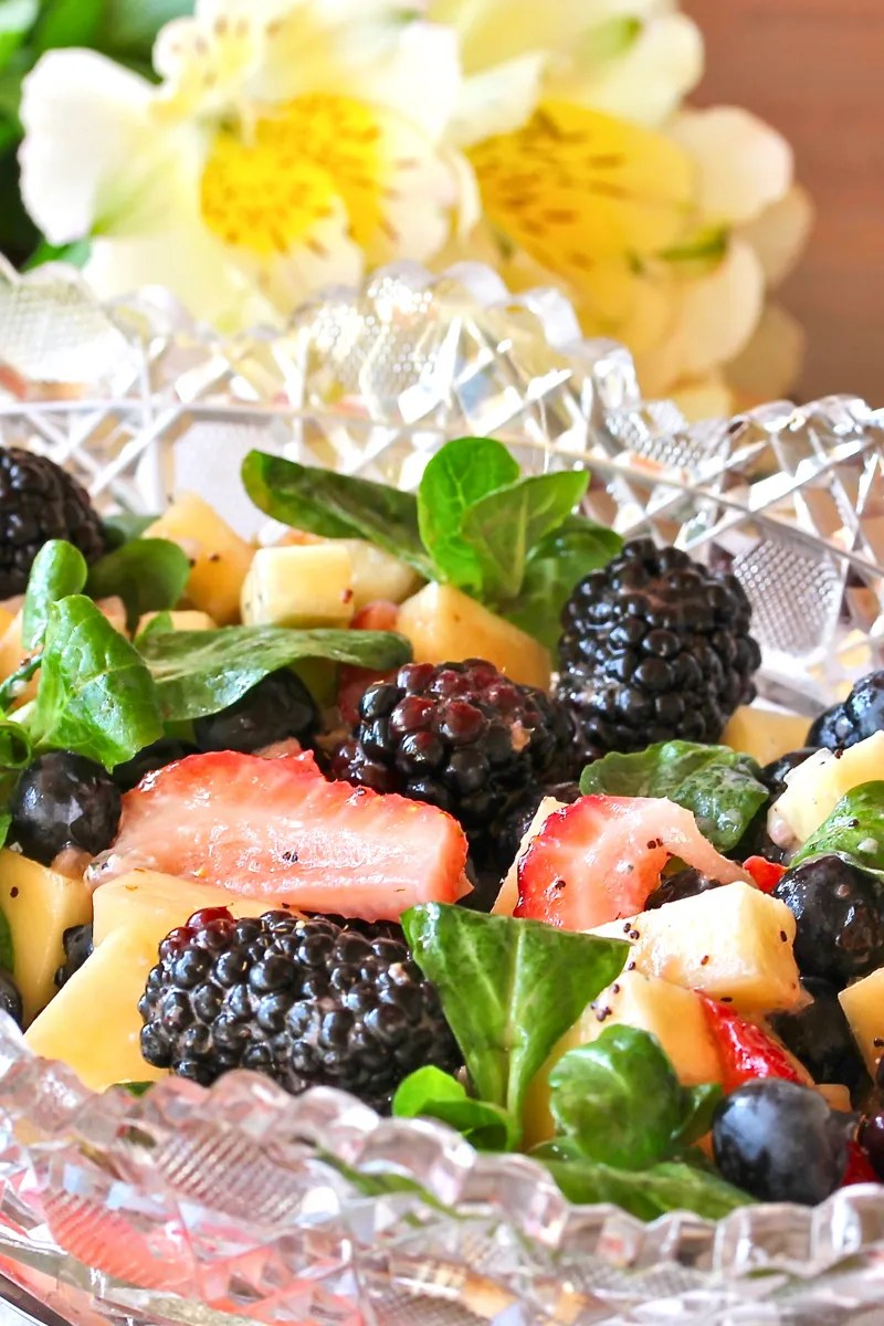 Berry Salad with Poppyseed Dressing