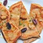 flatbreads, whole wheat roasted garlic naan