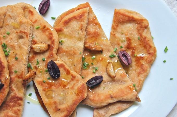 Whole Wheat Roasted Garlic Naan