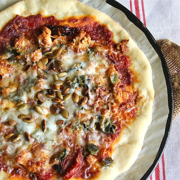 BBQ Chicken Pizza, how to make your own pizza dough