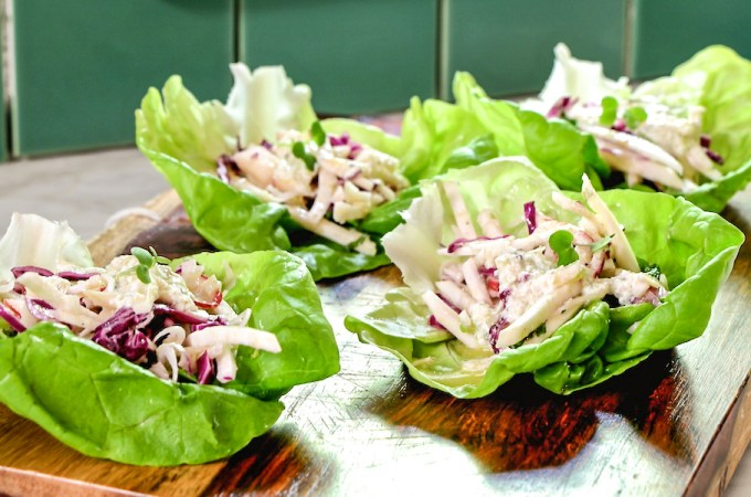 lettuce wraps with celery root