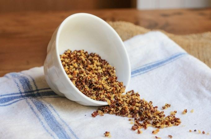 Quinoa Crispies (with Truffle Salt)