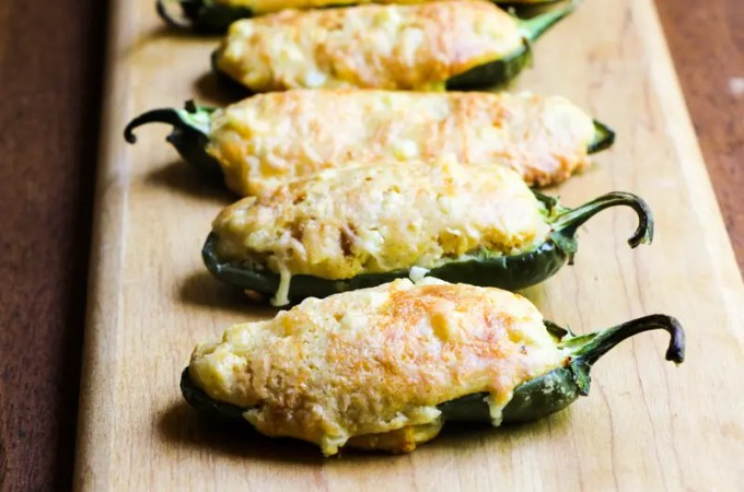 Jalapeño Poppers Stuffed with Cornbread