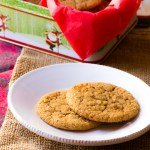Soft ginger molasses cookies with little chunks of sugared ginger.