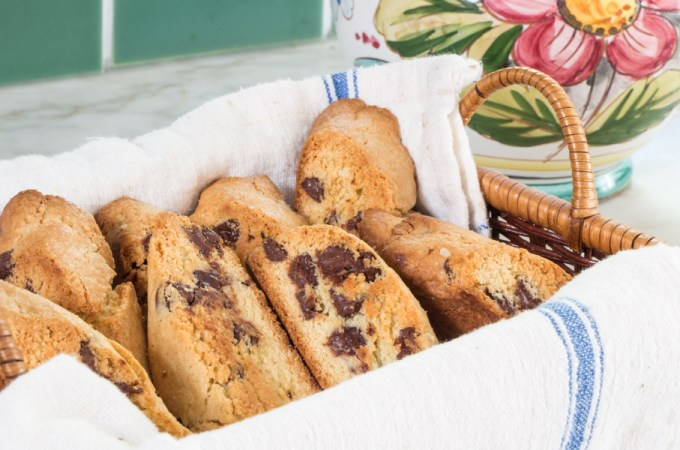 Nut-Free Anise Biscotti with Chocolate Chips