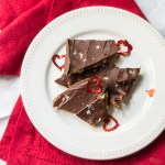 chocolate bark with pretzels and sea salt