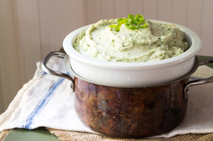 Mashed Celery Root with Blue Cheese and Watercress: #FoodNetwork-Dish
