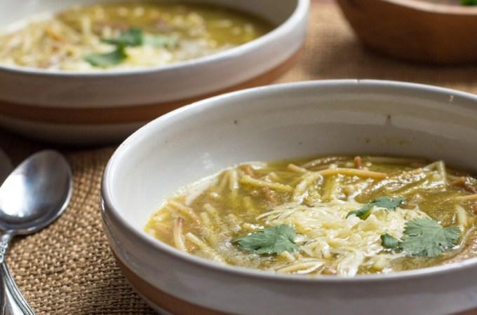 Sopa de Fideo Verde
