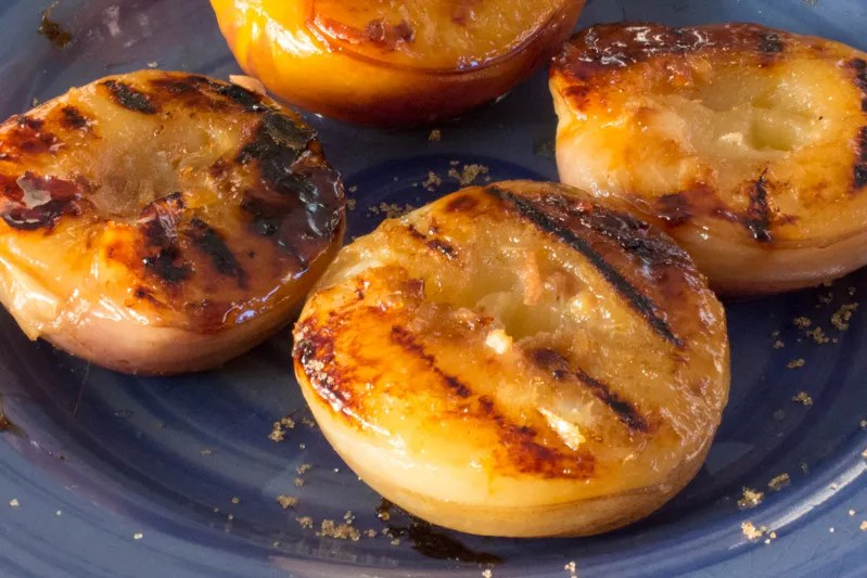 Grilled Ginger Peaches