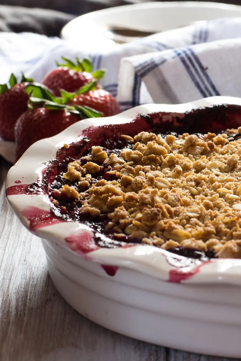 Strawberry Blueberry Hibiscus Crumble Progressiveeats The Wimpy