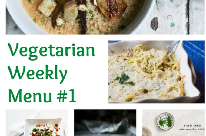 Weekly Vegetarian Menu #1