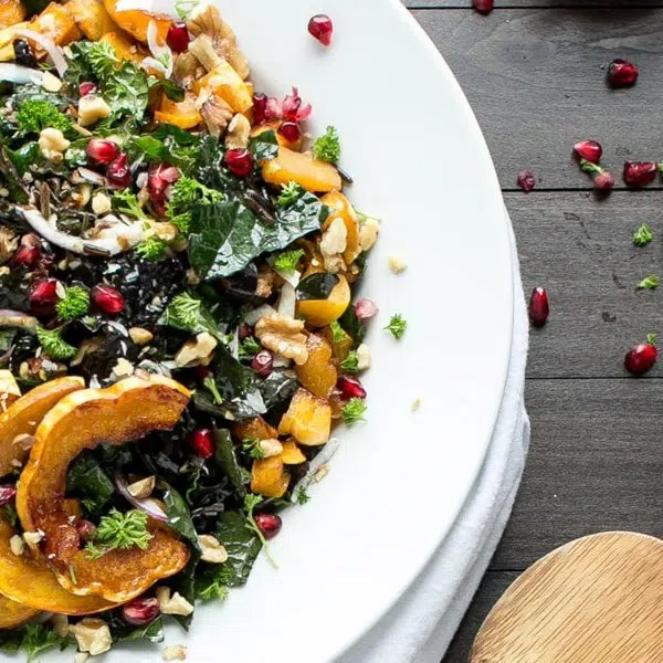 Vegetarian delicata squash main dishes for Thanksgiving.