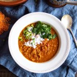 Curried Lentil Soup made in the Instant Pot in 30 minutes!