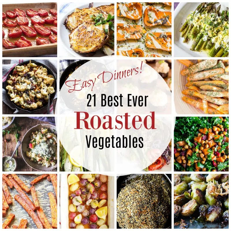 A collection of more than 20 roasted vegetables dishes for an easy dinner tonight.