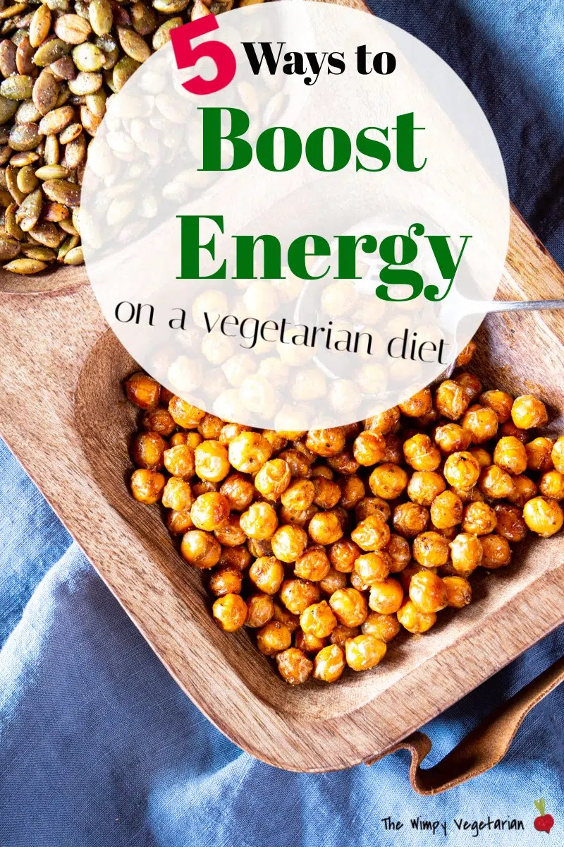 5 easy ways to boost energy on a vegetarian diet.