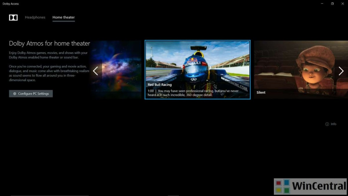 Download Official Dolby access app for Windows 10 (Dolby ATMOS)