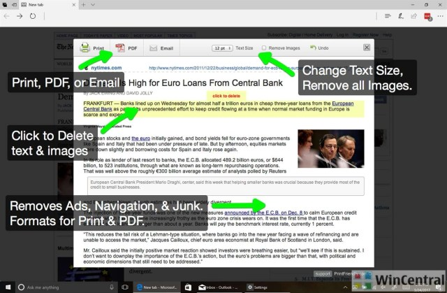 PrintFriendly and PDF Edge extension