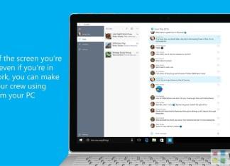 GroupMe app on Windows 10 PC