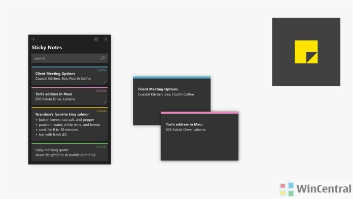 Sticky Notes on Windows 10