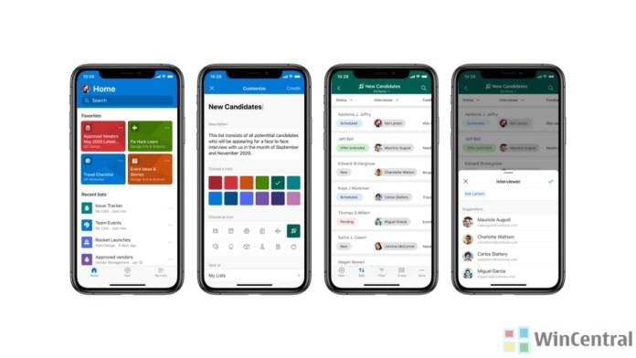 Microsoft Lists Mobile app iOS