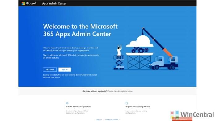 Office 365 Apps Admin Center