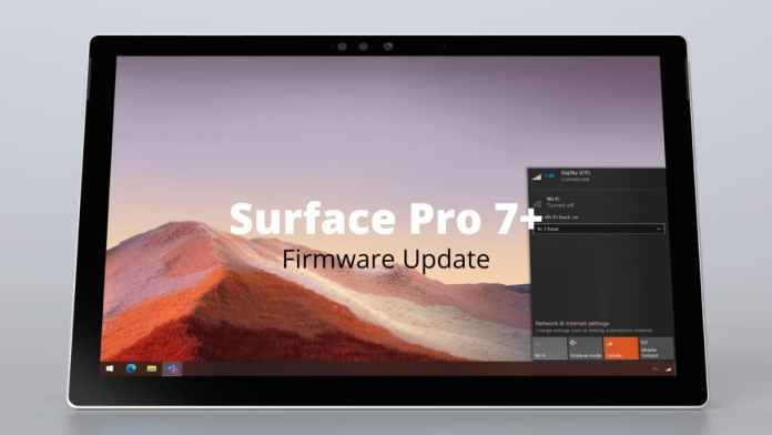Surface Pro 7+ firmware update