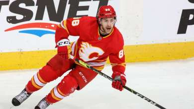 CALGARY, AB - APRIL 26: Andrew Mangiapane #88 of the Calgary Flames calls for the puck against the Montreal Canadiens at Scotiabank Saddledome on April 26, 2021 in Calgary, Alberta, Canada. (Photo by Gerry Thomas/NHLI via Getty Images)CALGARY, AB - APRIL 26: Andrew Mangiapane #88 of the Calgary Flames calls for the puck against the Montreal Canadiens at Scotiabank Saddledome on April 26, 2021 in Calgary, Alberta, Canada. (Photo by Gerry Thomas/NHLI via Getty Images)