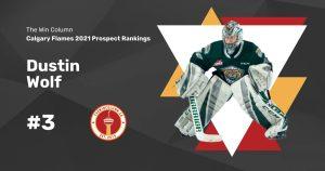 Calgary Flames 2021 Prospect Rankings Featured Image. #3. Dustin Wolf, Goaltender. The Win Column.