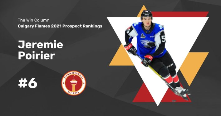 Calgary Flames 2021 Prospect Rankings Featured Image. #6. Jeremie Poirier, Defenceman. The Win Column.