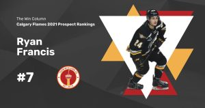 Calgary Flames 2021 Prospect Rankings Featured Image. #7. Ryan Francis, Right Wing/Centre. The Win Column.