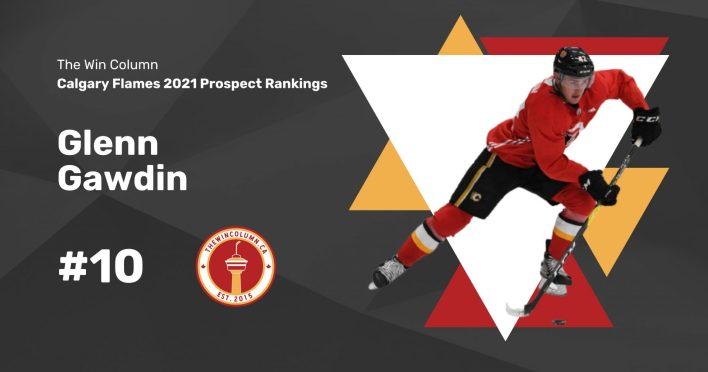 Calgary Flames 2021 Prospect Rankings Featured Image. #10. Glenn Gawdin, Centre/Right Wing. The Win Column.
