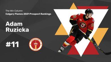 Calgary Flames 2021 Prospect Rankings Featured Image. #11. Adam Ruzicka, Forward. The Win Column.