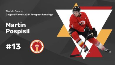 Calgary Flames 2021 Prospect Rankings Featured Image. #13. Martin Pospisil, Centre/Right Winger. The Win Column.
