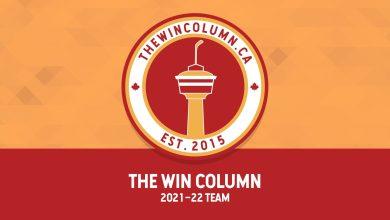 "Blog header: ""The Win Column 2021–22 Team"""