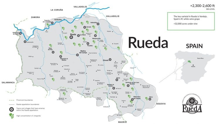 Rueda is just 2 hours from Madrid