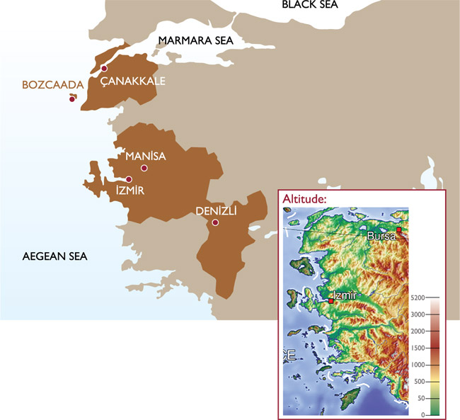 The Aegean region in Turkey