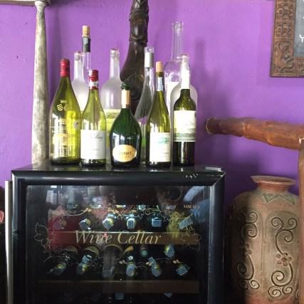 Wines Cellar at beach restaurant
