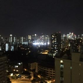 City views from the balcony