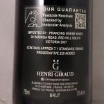 Champagne Henri Giraud Esprit Brut Nature NV Back Label